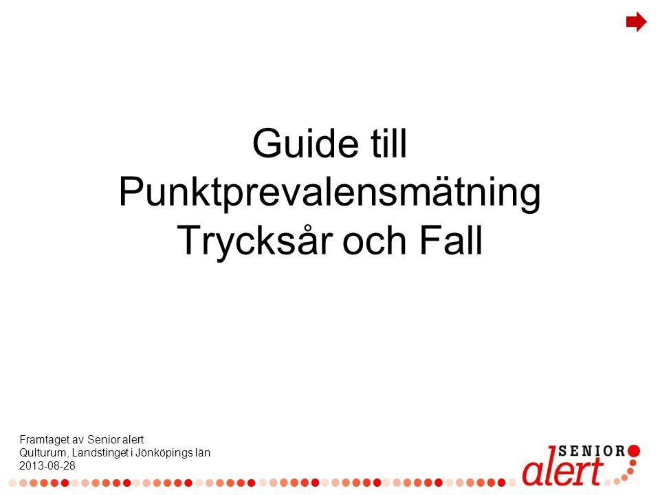 Guide till Punktprevalensmätning Trycksår och Fall