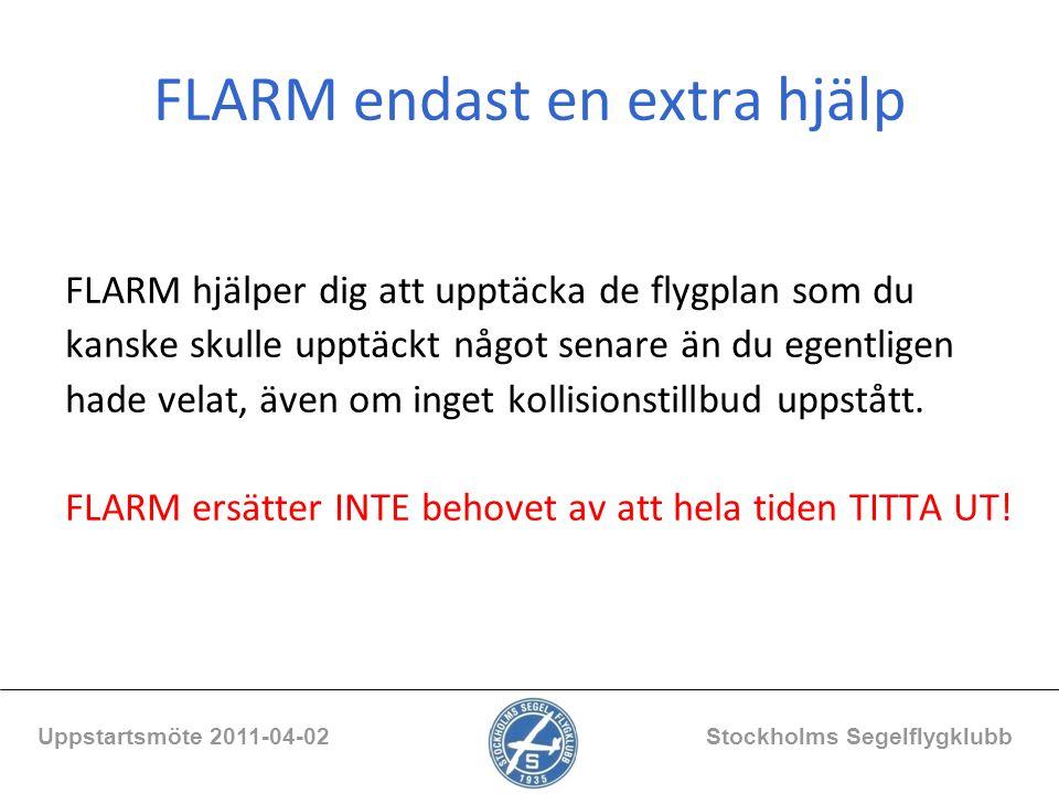 FLARM endast en extra hjälp
