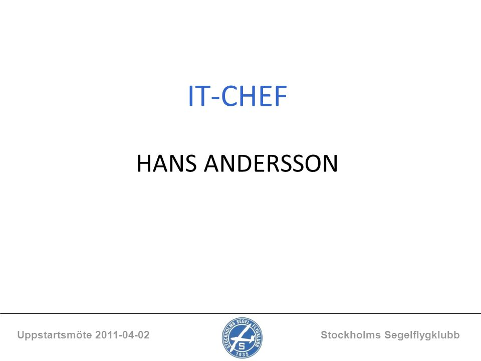 IT-CHEF HANS ANDERSSON