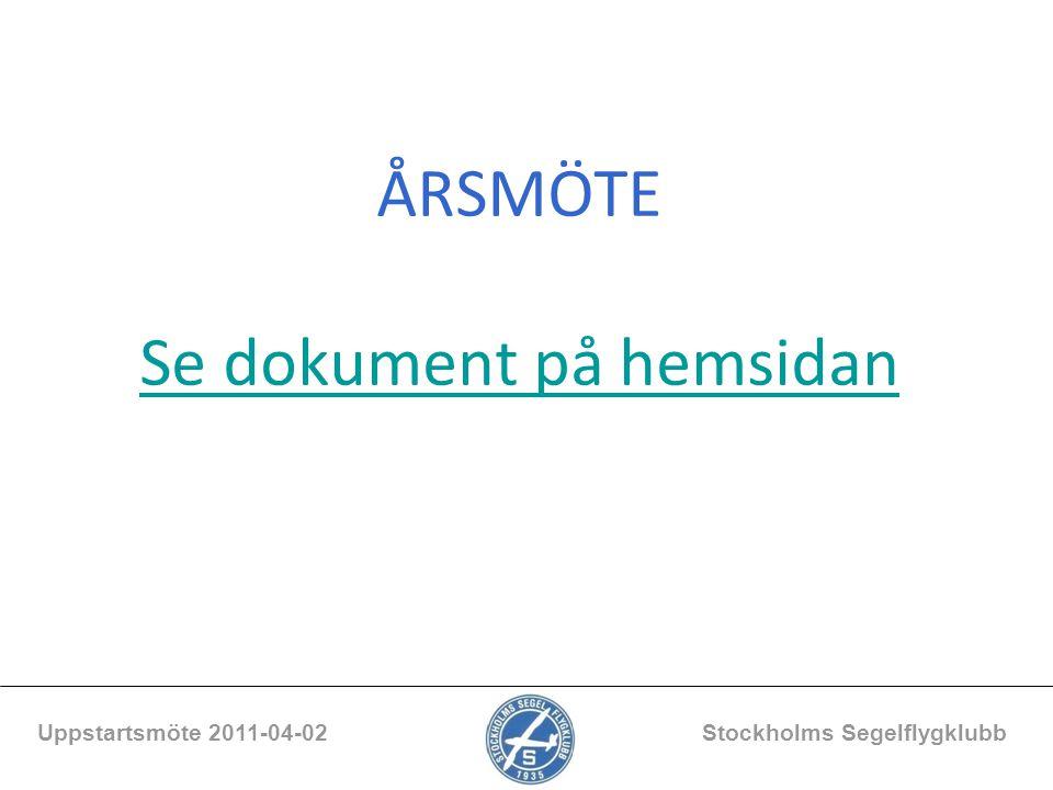ÅRSMÖTE Se dokument på hemsidan