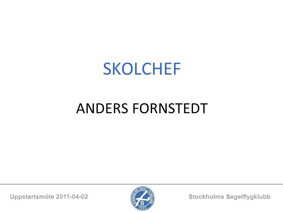 SKOLCHEF ANDERS FORNSTEDT