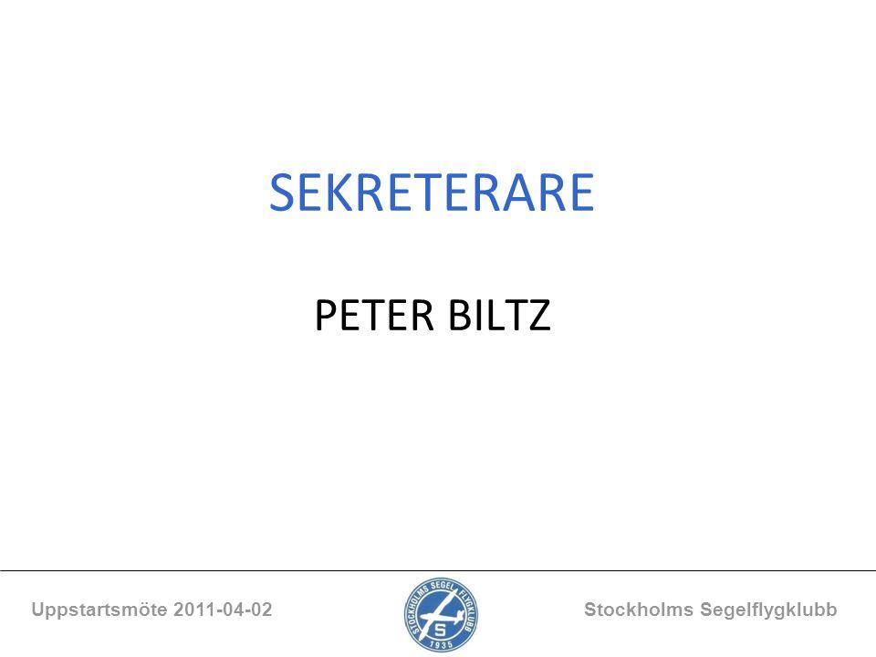 SEKRETERARE PETER BILTZ