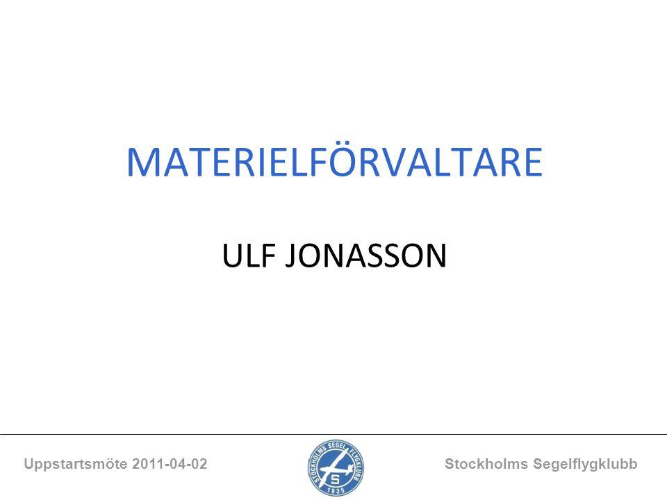 MATERIELFÖRVALTARE ULF JONASSON