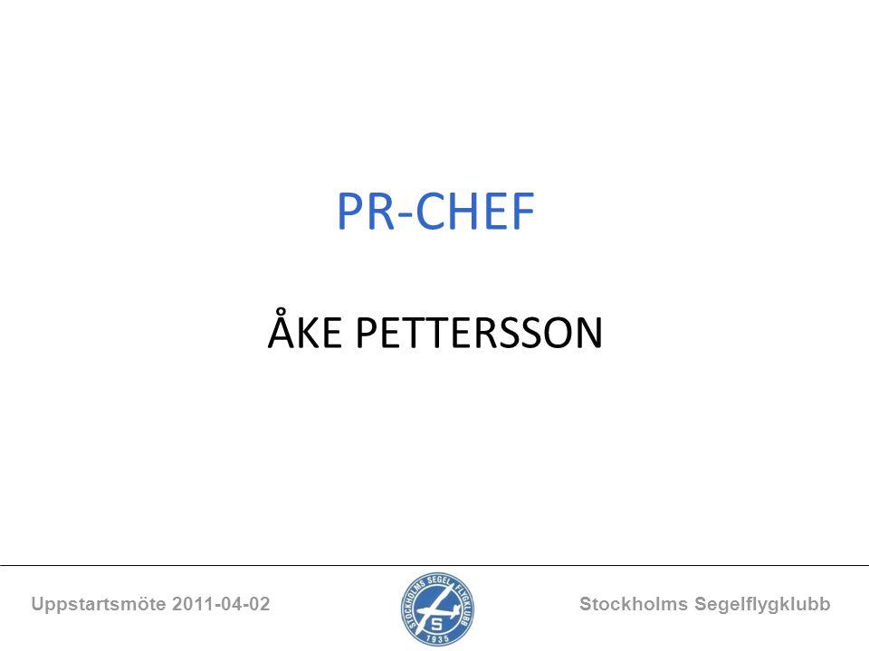 PR-CHEF ÅKE PETTERSSON