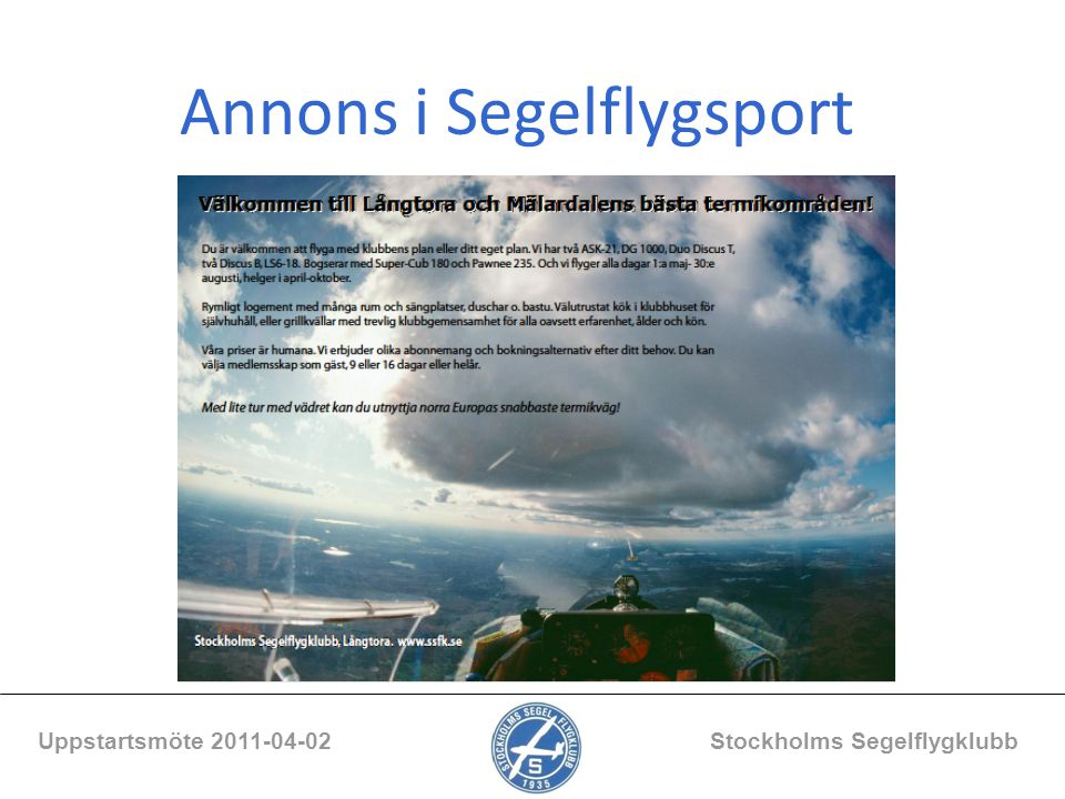 Annons i Segelflygsport