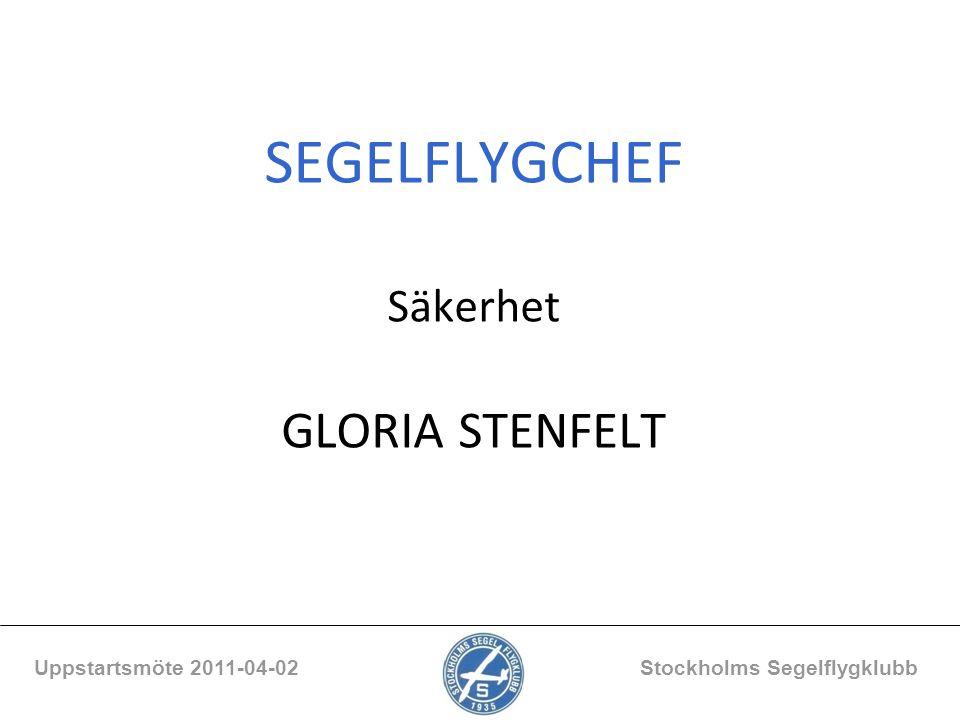 SEGELFLYGCHEF Säkerhet GLORIA STENFELT