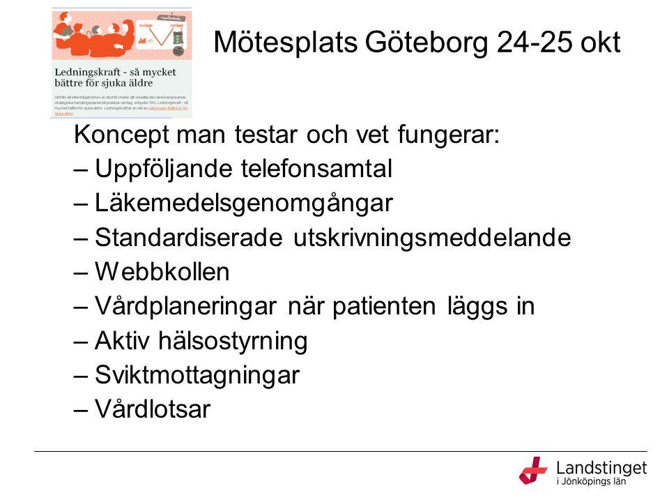 Mötesplats Göteborg 24-25 okt