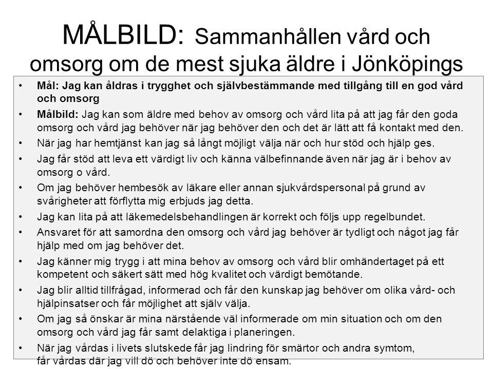 MÅLBILD: Sammanhållen vård och omsorg om de mest sjuka äldre i Jönköpings län