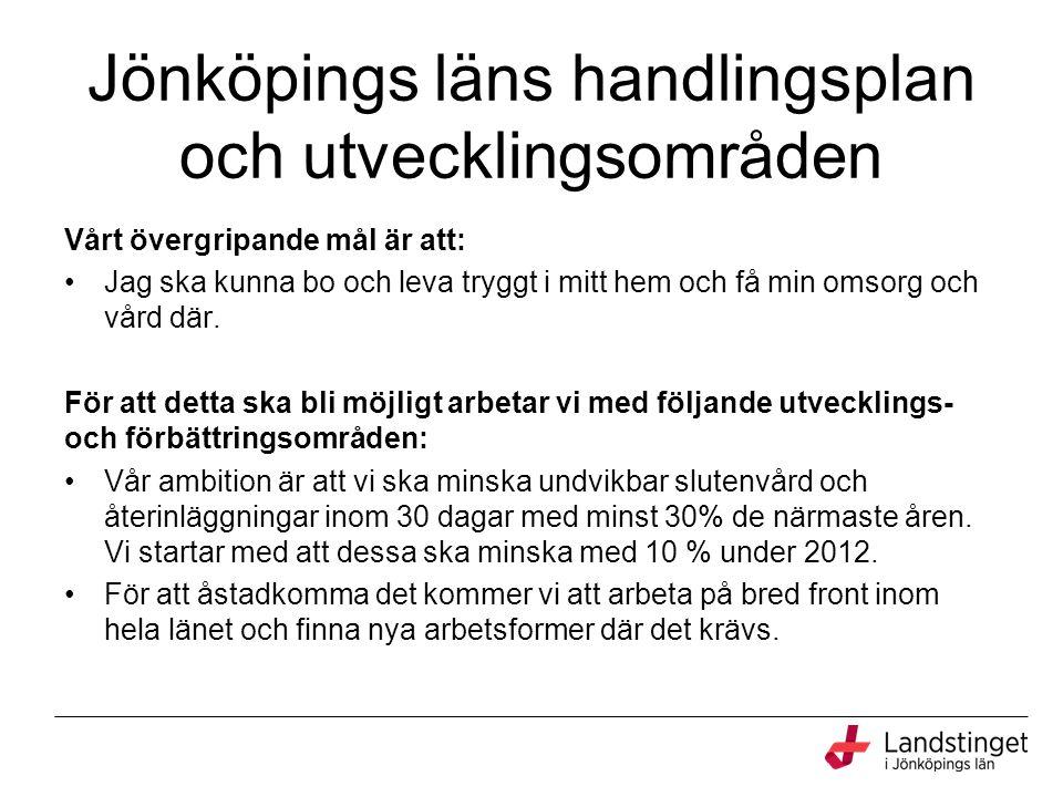 Jönköpings läns handlingsplan och utvecklingsområden