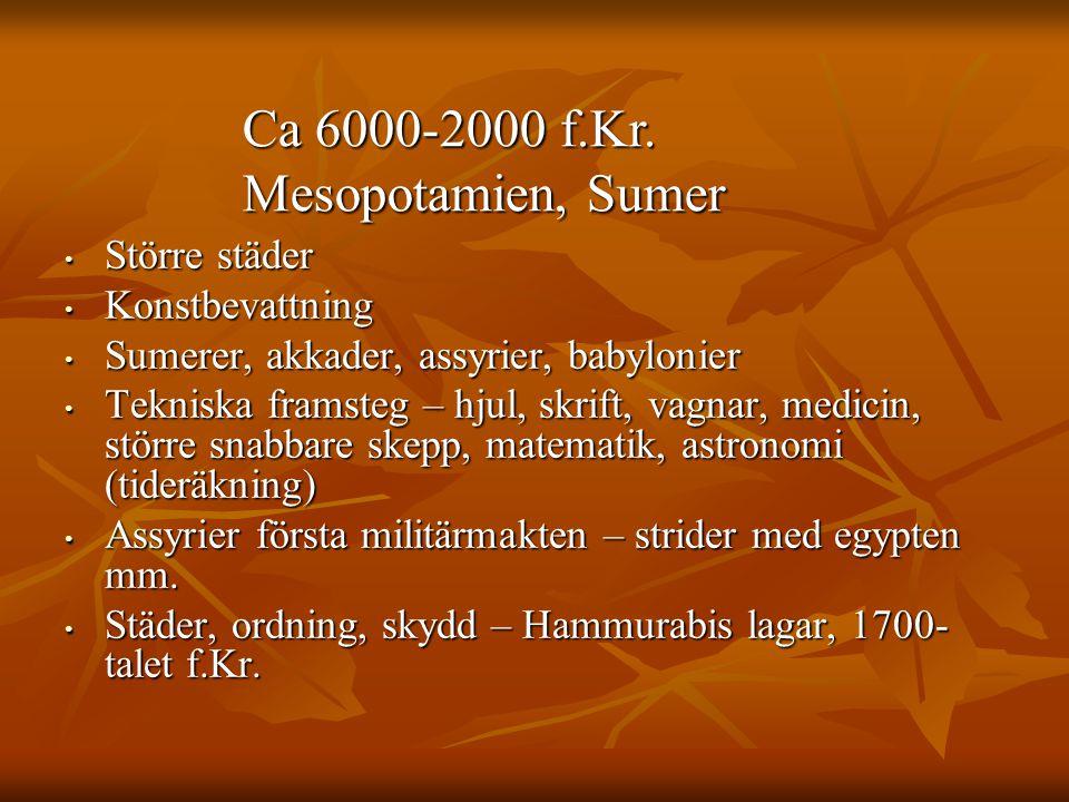 Ca 6000-2000 f.Kr. Mesopotamien, Sumer
