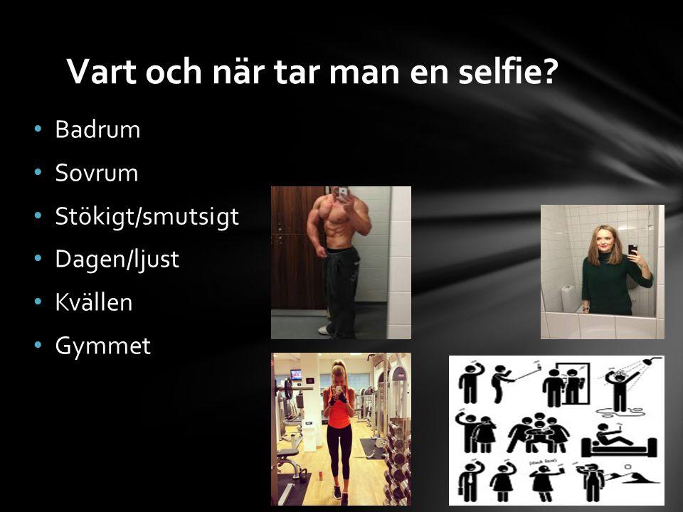 Vart och när tar man en selfie