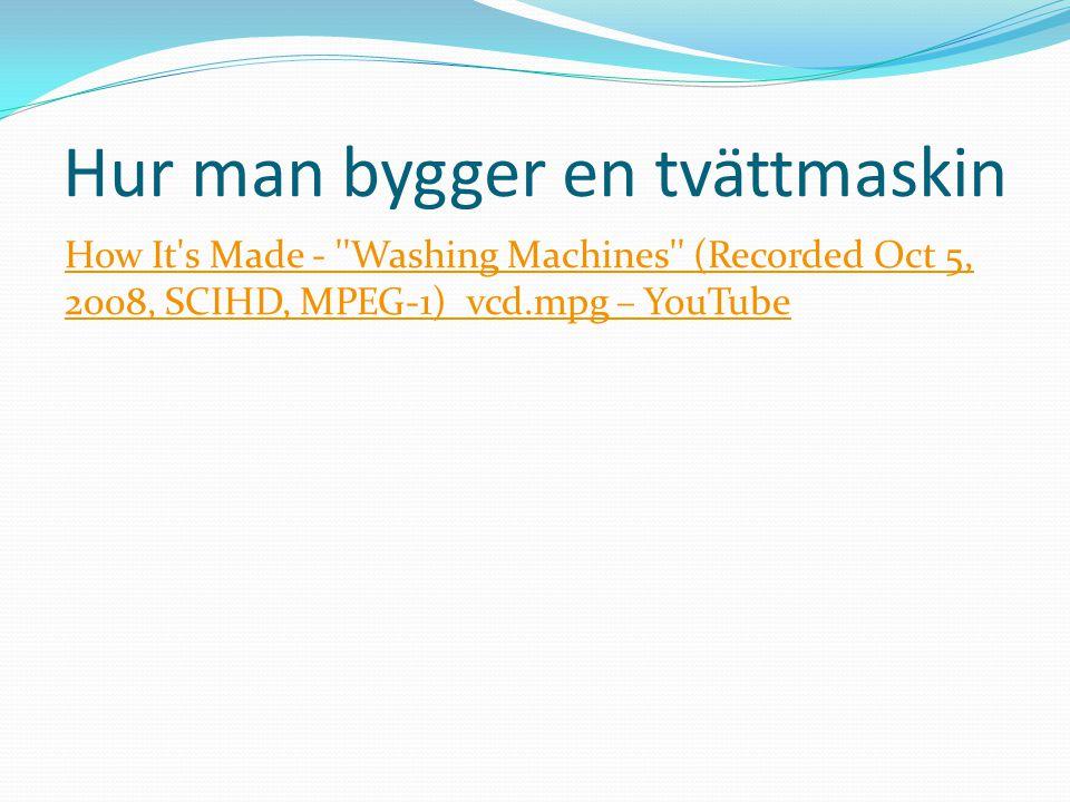Hur man bygger en tvättmaskin