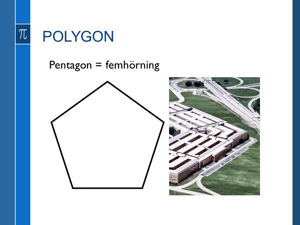 POLYGON Pentagon = femhörning