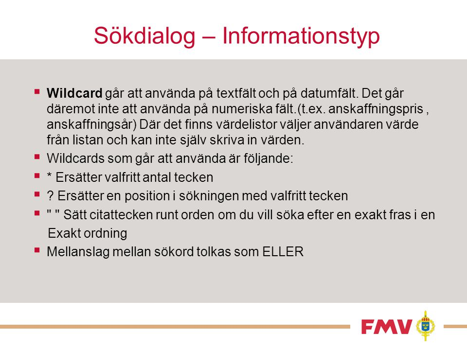 Sökdialog – Informationstyp