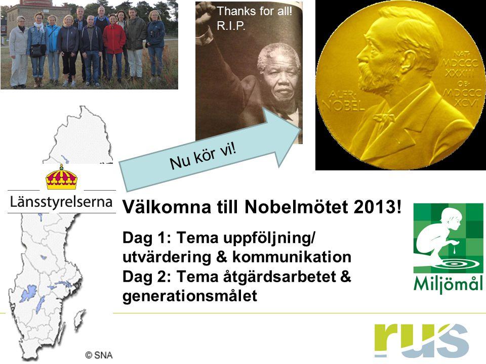 Välkomna till Nobelmötet 2013!