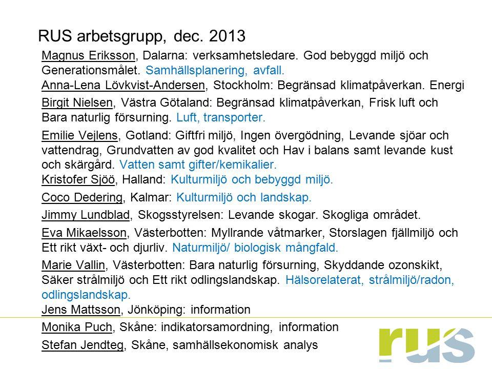 RUS arbetsgrupp, dec. 2013