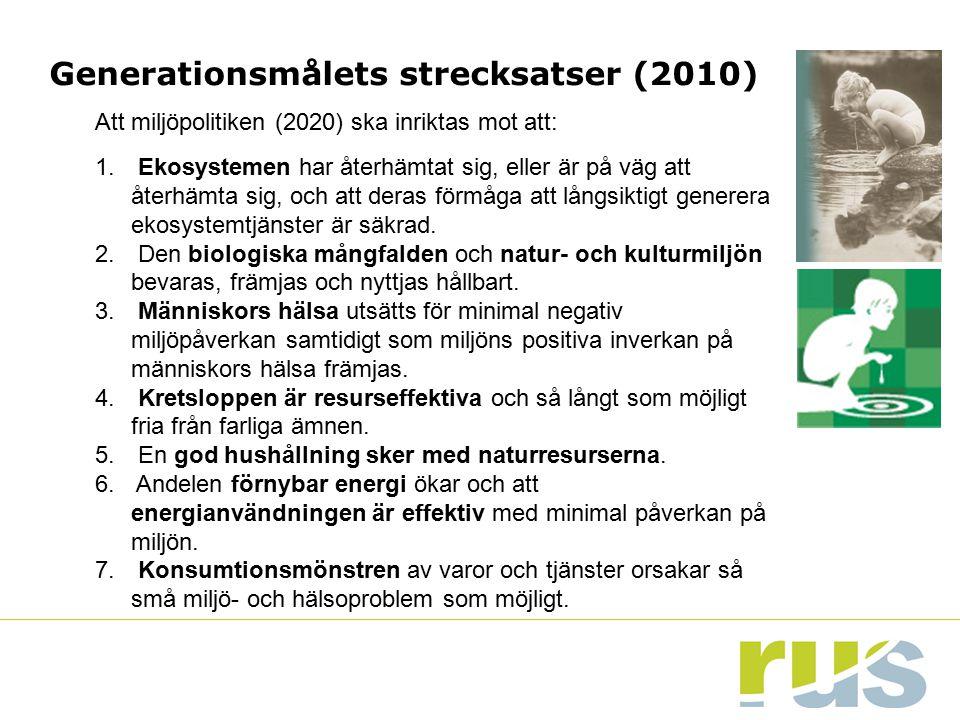 Generationsmålets strecksatser (2010)