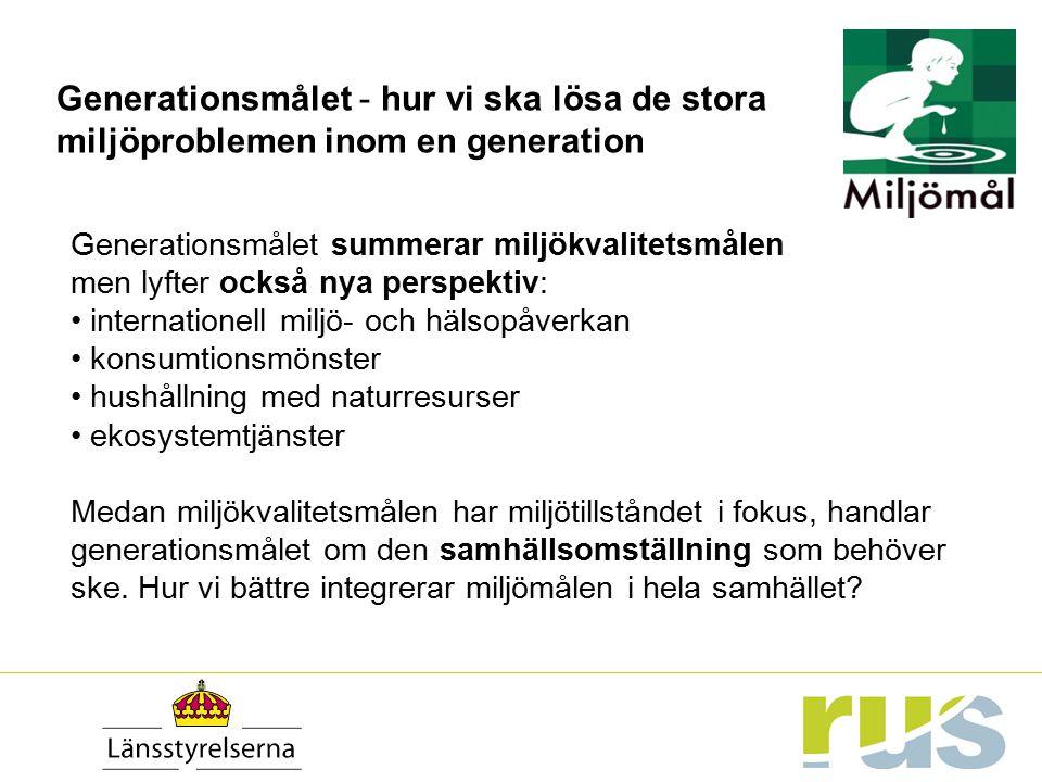 Generationsmålet - hur vi ska lösa de stora miljöproblemen inom en generation