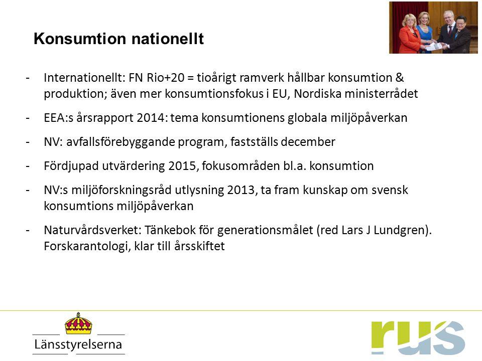 Konsumtion nationellt