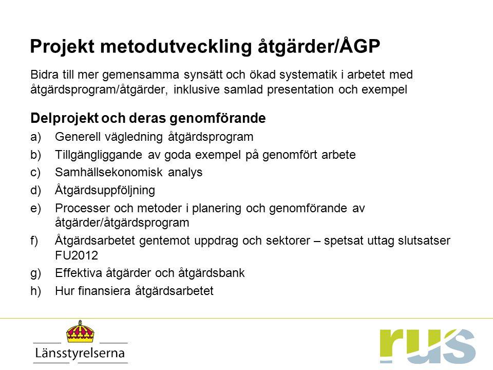 Projekt metodutveckling åtgärder/ÅGP