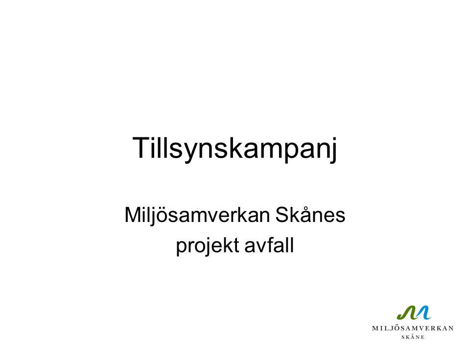 Miljösamverkan Skånes projekt avfall