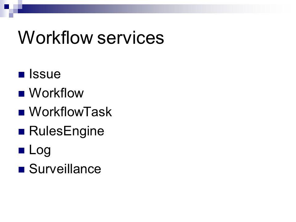 Workflow services Issue Workflow WorkflowTask RulesEngine Log