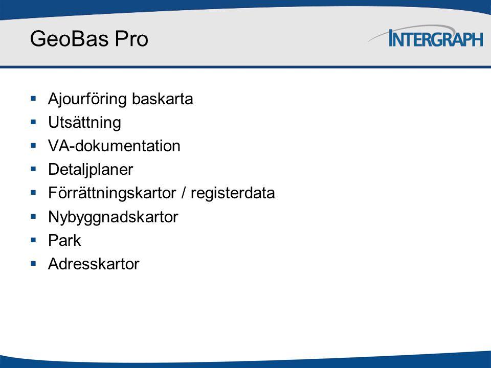GeoBas Pro Ajourföring baskarta Utsättning VA-dokumentation