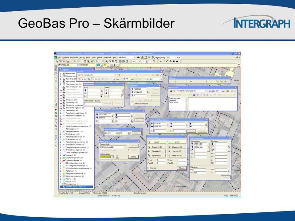 GeoBas Pro – Skärmbilder