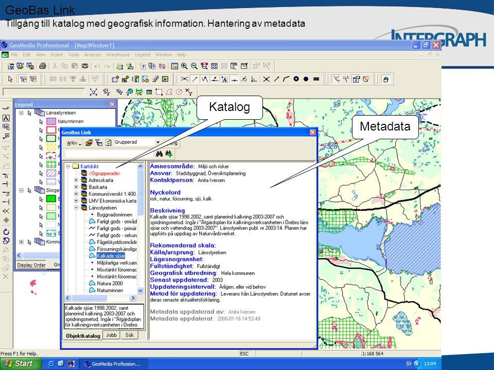 GeoBas Link Tillgång till katalog med geografisk information