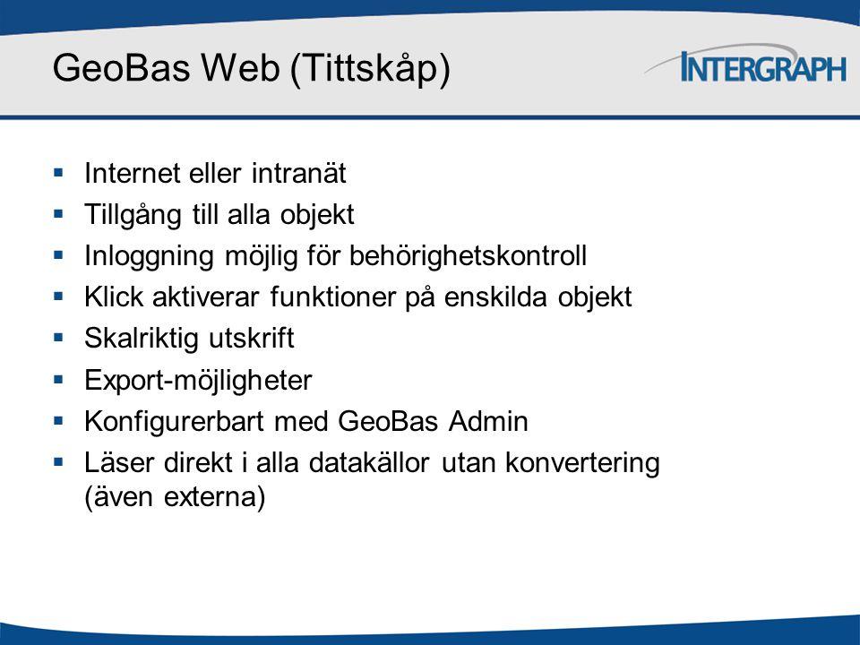 GeoBas Web (Tittskåp) Internet eller intranät