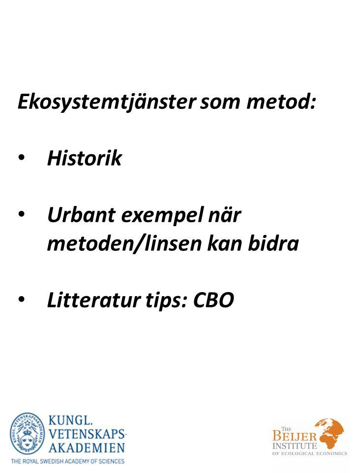 Ekosystemtjänster som metod: