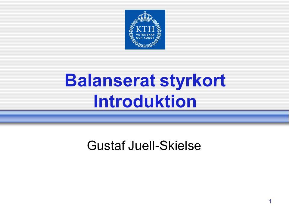 Balanserat styrkort Introduktion