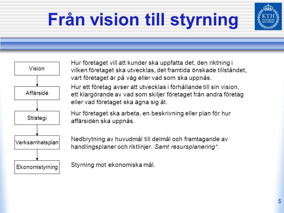 Från vision till styrning