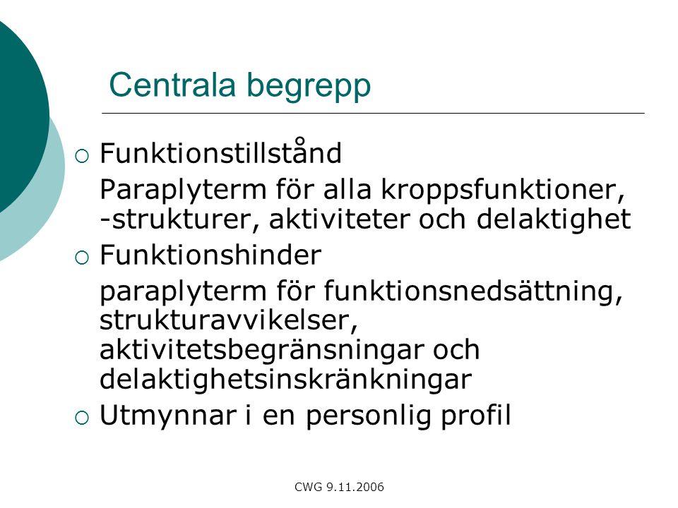 Centrala begrepp Funktionstillstånd