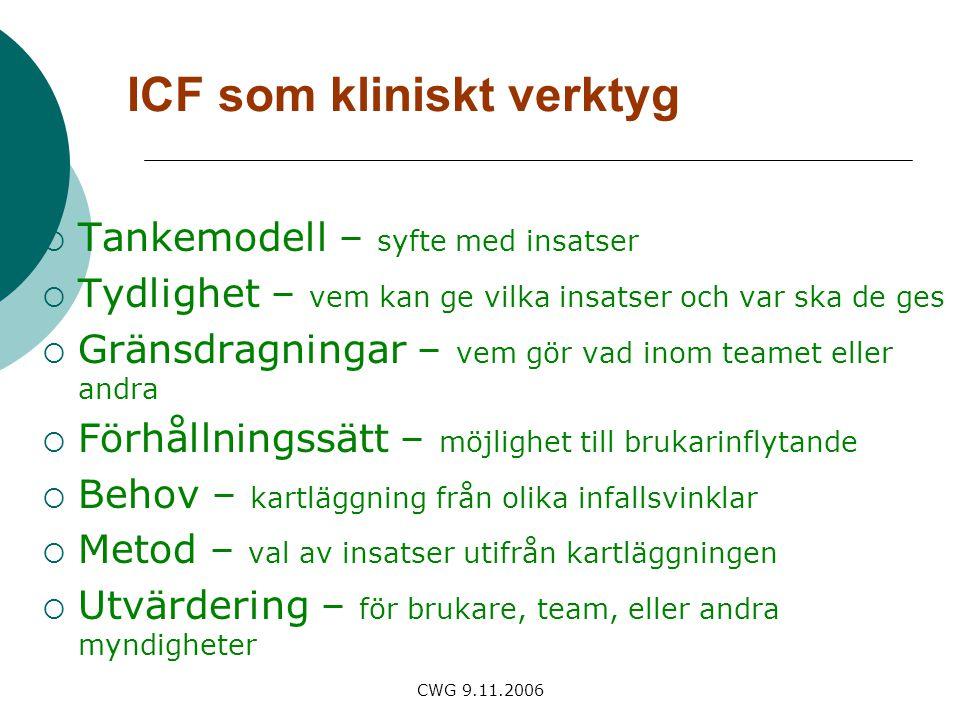 ICF som kliniskt verktyg