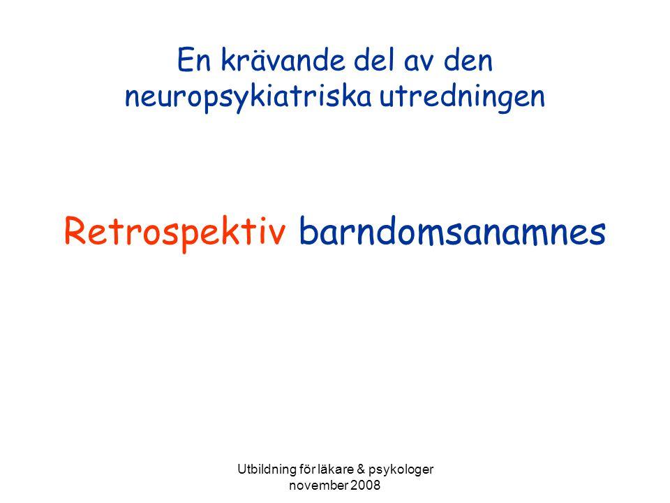 En krävande del av den neuropsykiatriska utredningen