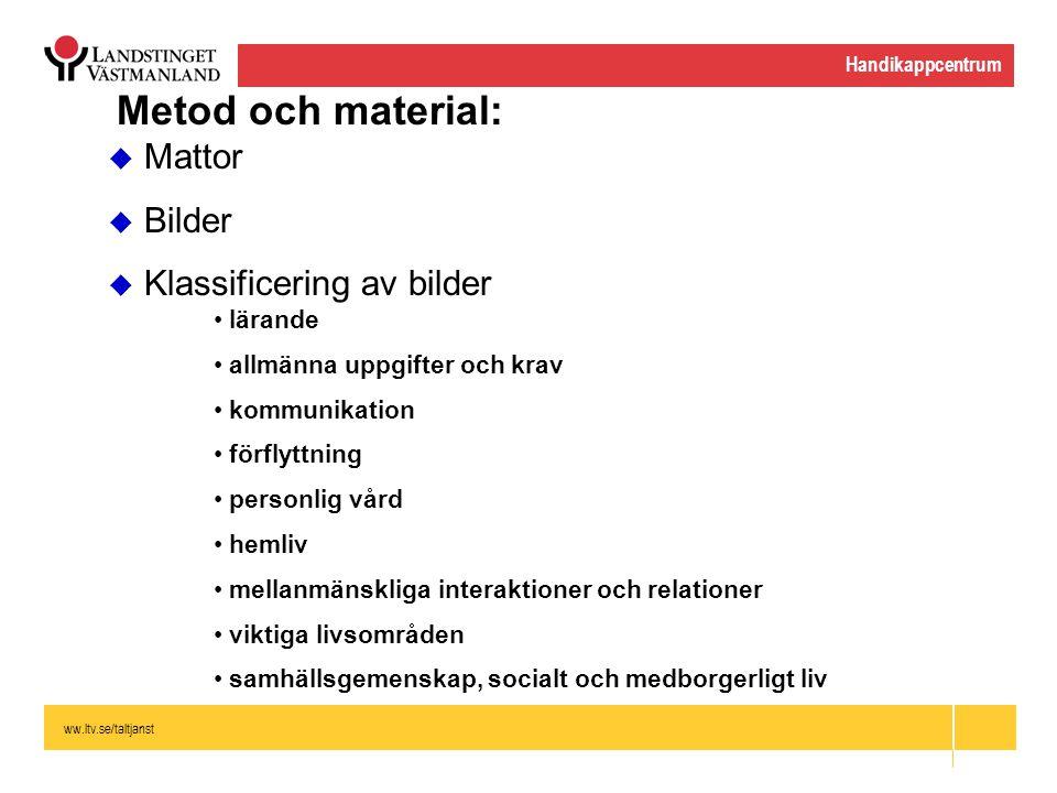 Metod och material: Mattor Bilder Klassificering av bilder lärande