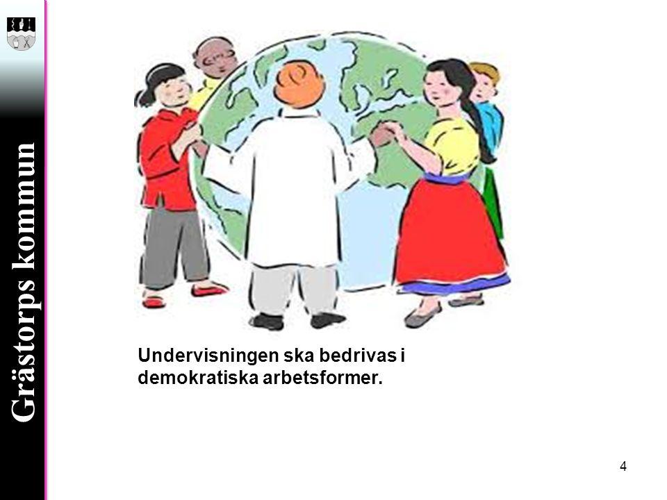 Undervisningen ska bedrivas i demokratiska arbetsformer.