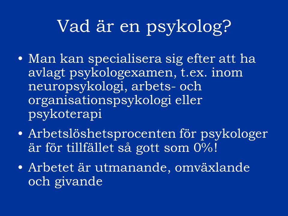 Vad är en psykolog
