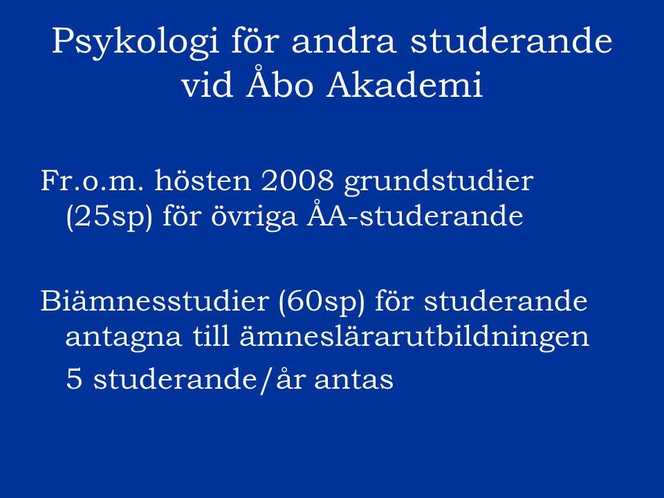 Psykologi för andra studerande vid Åbo Akademi