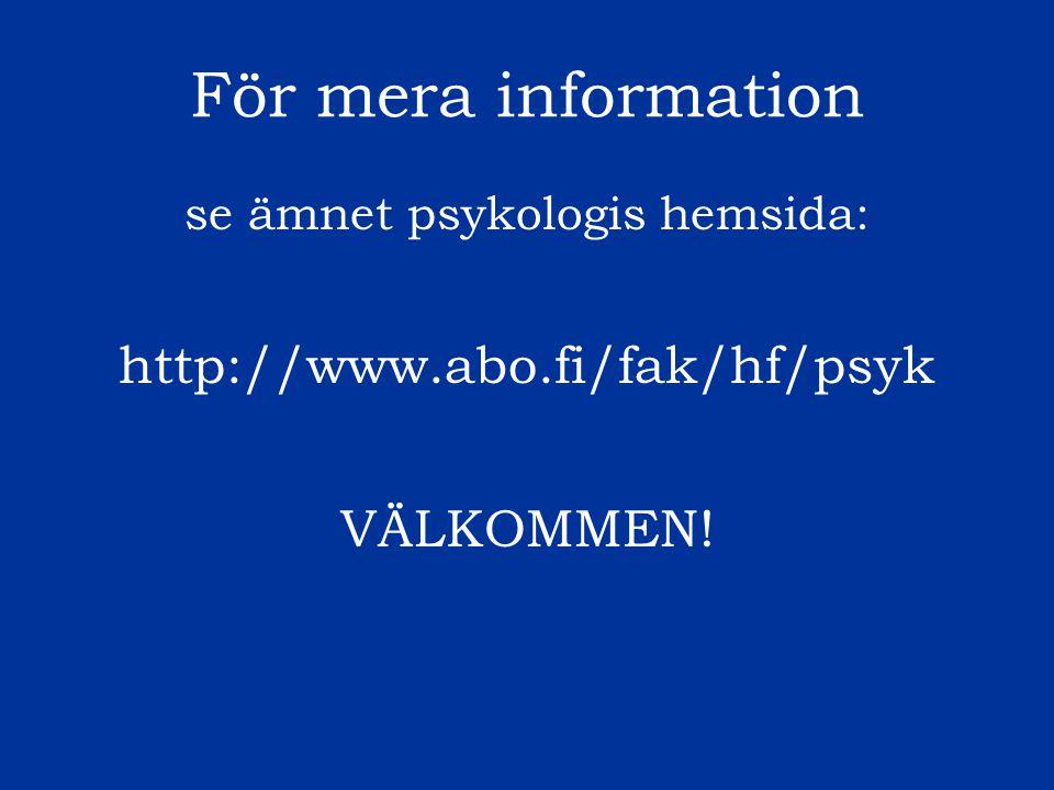 se ämnet psykologis hemsida: