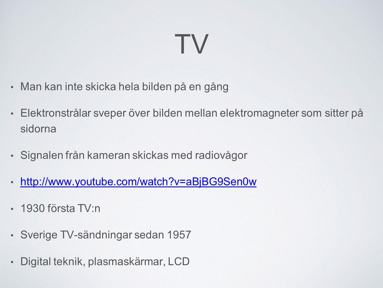 TV Man kan inte skicka hela bilden på en gång