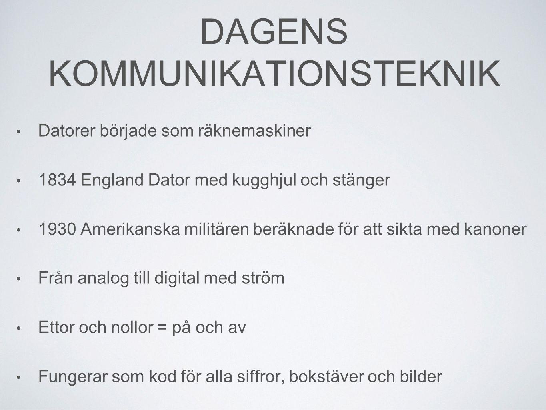 DAGENS KOMMUNIKATIONSTEKNIK