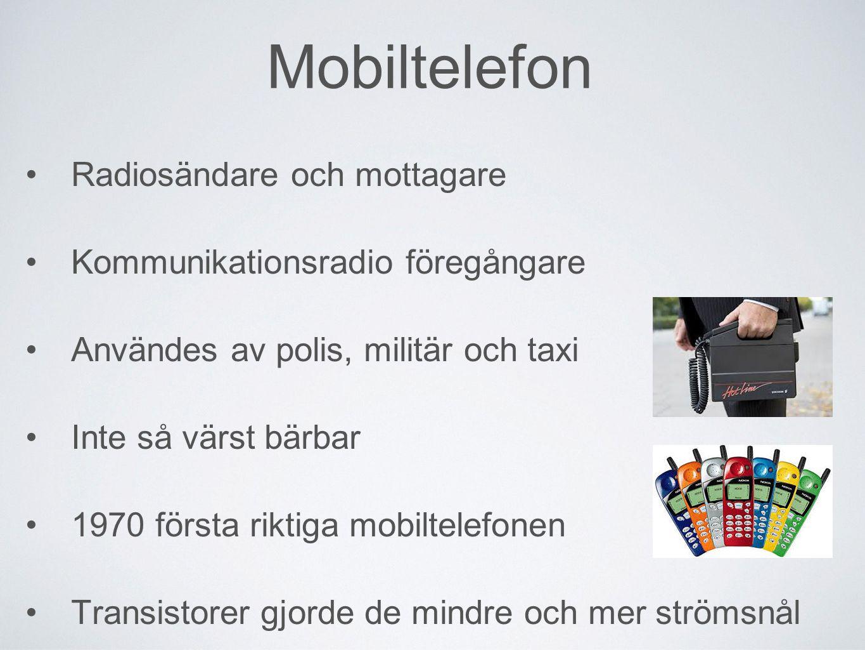 Mobiltelefon Radiosändare och mottagare