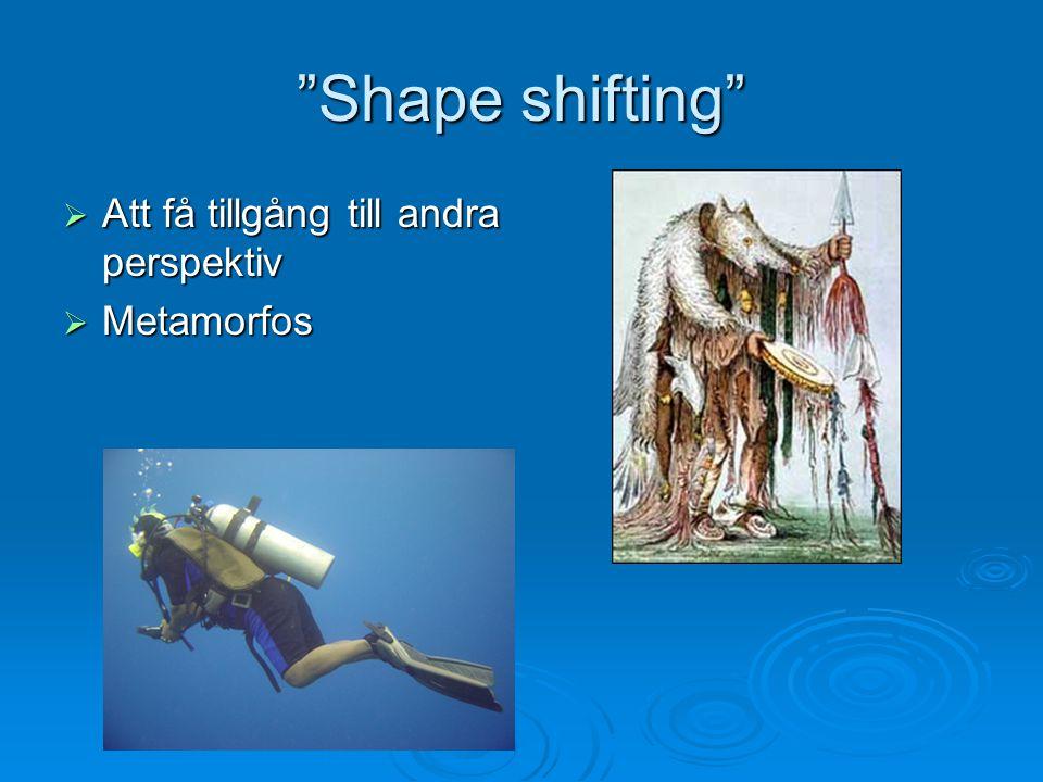 Shape shifting Att få tillgång till andra perspektiv Metamorfos
