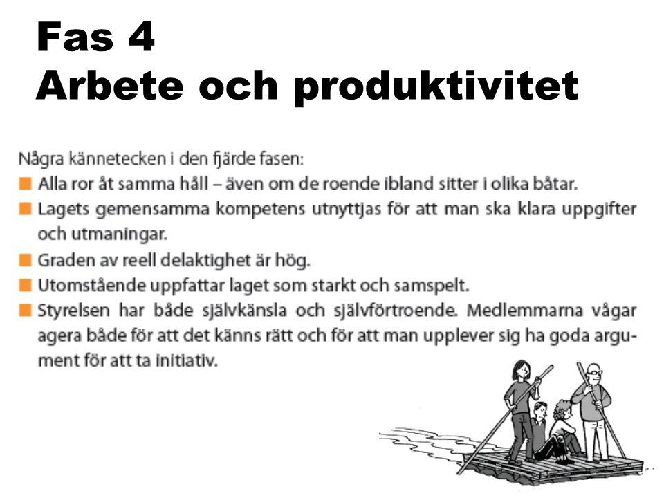 Fas 4 Arbete och produktivitet