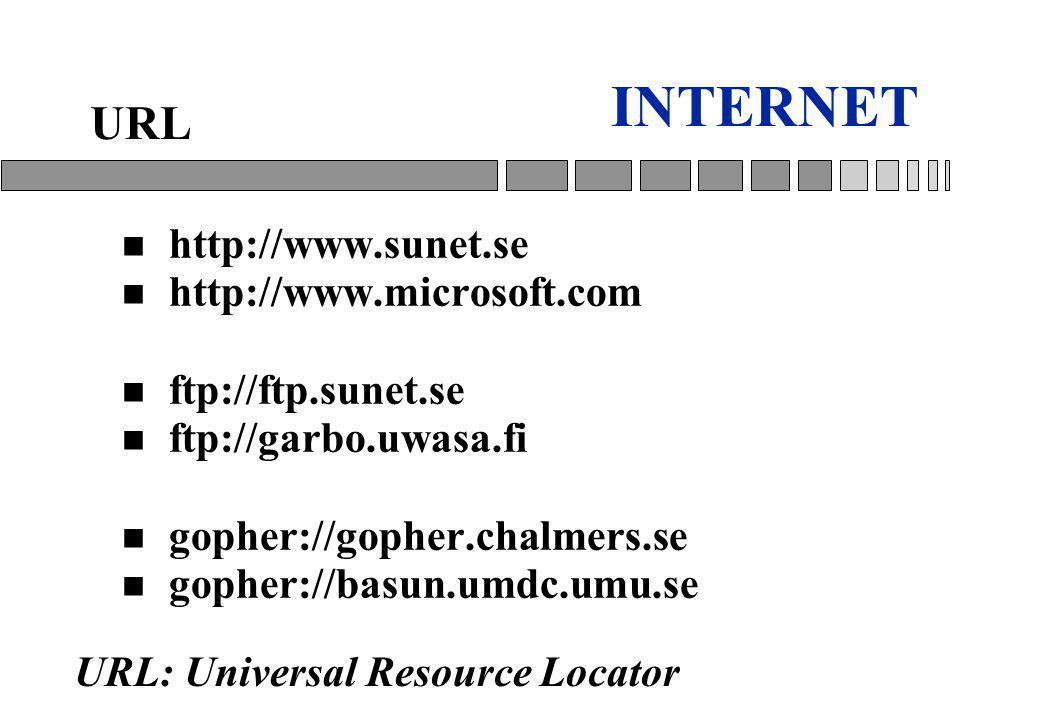INTERNET URL http://www.sunet.se http://www.microsoft.com