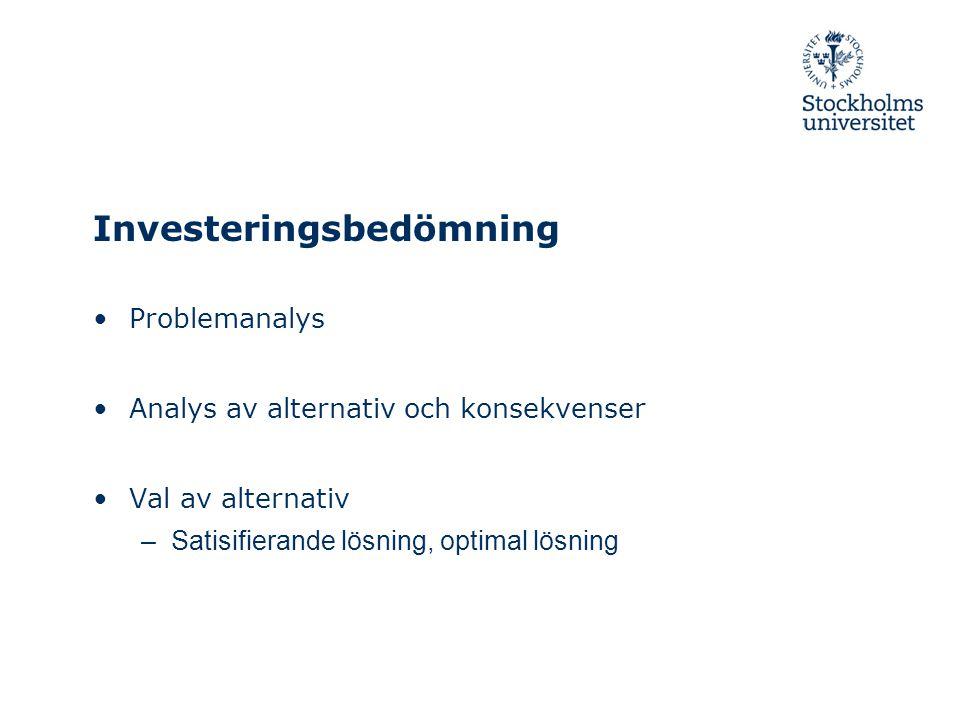 Investeringsbedömning