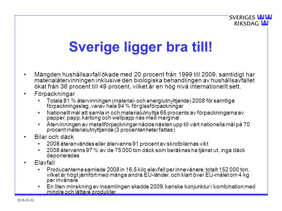 Sverige ligger bra till!