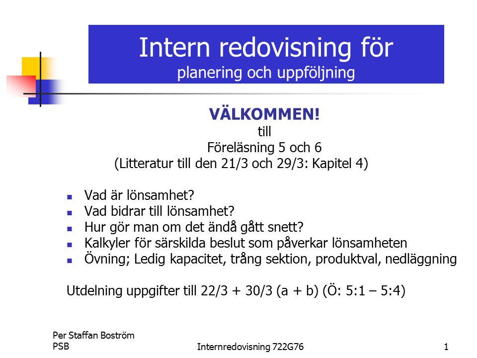 Intern redovisning för planering och uppföljning